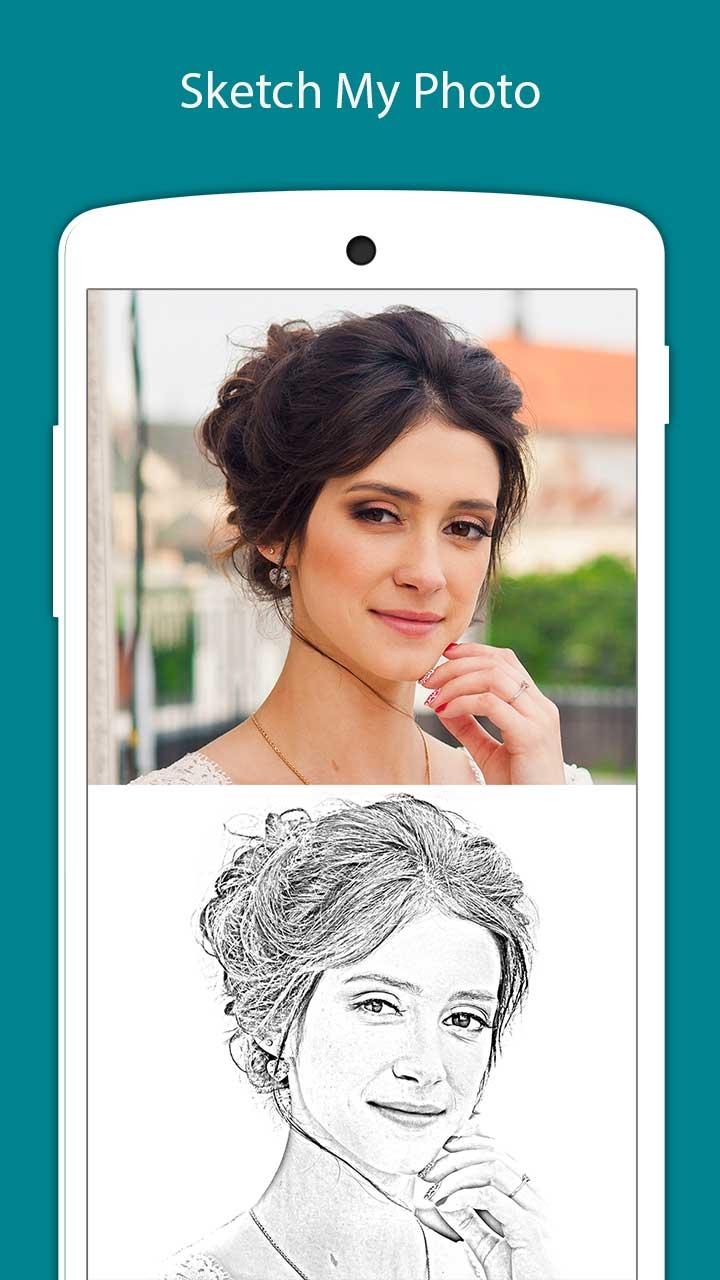 Pencil sketch sketch photo maker photo editor app icon