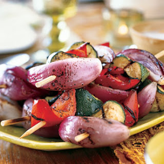 Grilled Vegetables with Mint Raita.