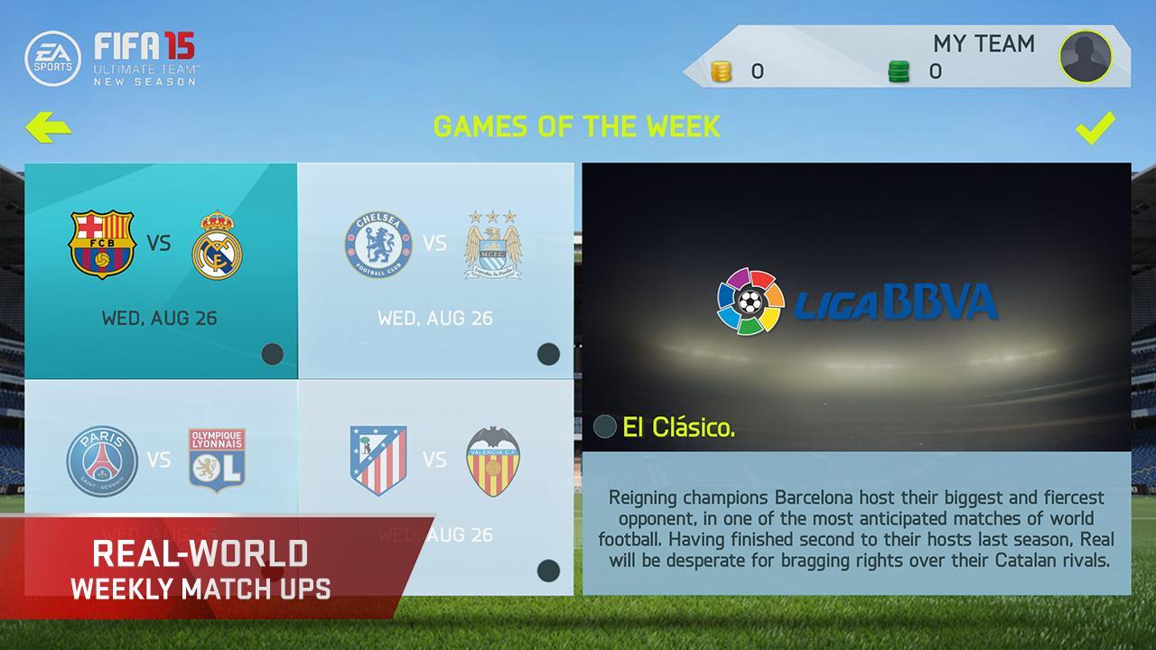 FIFA 15 Soccer Ultimate Team screenshot #4