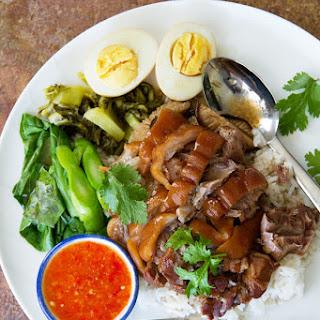 Stewed Pork Hocks on Rice (Khao Kha Mu ข้าวขาหมู) by Nong of Nong's Khao Man Gai