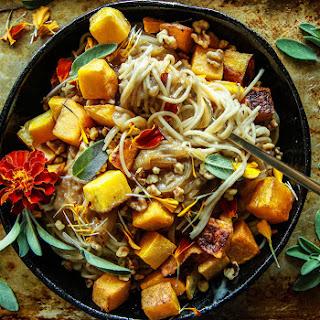 Caramelized Onion and Roast Butternut Squash Pasta (Vegan and Gluten-Free) Recipe