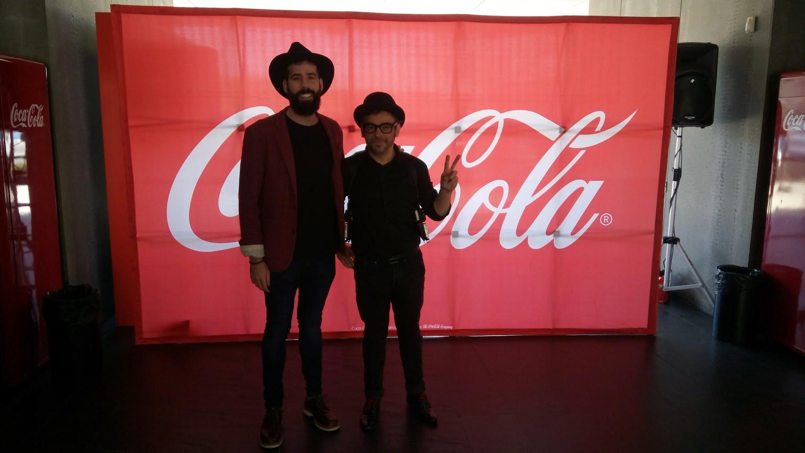 Alfonso V y Victor Vitia magia coca-cola 2017 Madrid