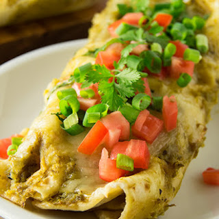 Chicken Enchiladas with Roasted Green Chile Sauce