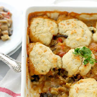 Vegetable Cobbler with Cheddar Biscuits.