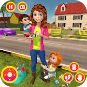 Happy Family Siblings Baby Care Nanny Mania Game APK for Bluestacks