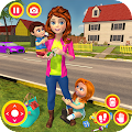 Happy Family Siblings Baby Care Nanny Mania Game