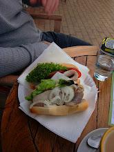 Photo: in Blankenese - having a herring sandwich
