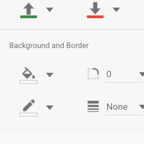 Chart background and border controls