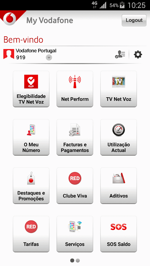 My Vodafone- screenshot