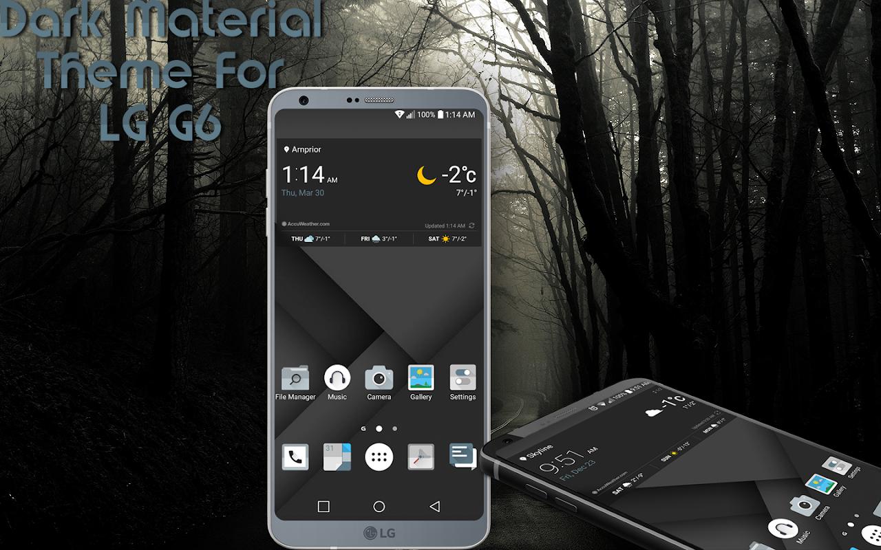 81+ Pixel Dark Theme Lg G6 Apk - Blue Theme For LG G6 G5 V30 V20 G4