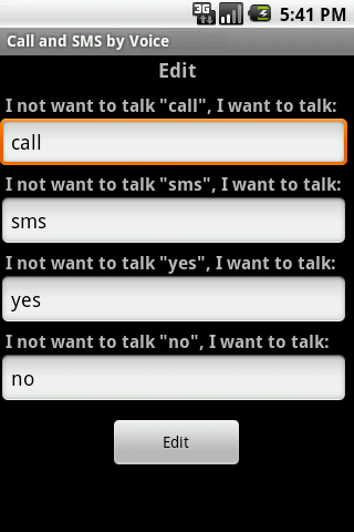 Call & SMS by Voice LITE screenshot 3