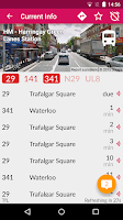 Screenshot of London Bus Checker Live Times