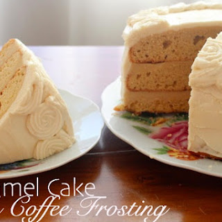 Caramel Cake with Coffee Frosting