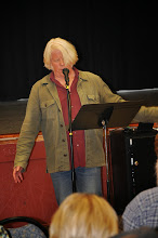 Photo: Stephen Roxborough's performance included vocal variations on his poem.