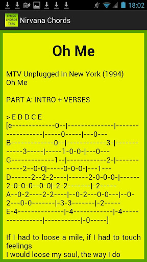 Nirvana Lyrics and Chords Apk 4.0 | Download Only APK file for Android