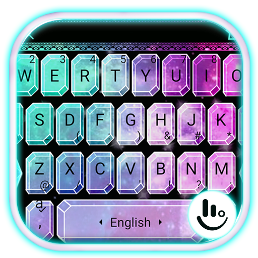 Twinkle Sparkling Galaxy Diamond Keyboard Theme Android APK Download Free By Powerful Phone