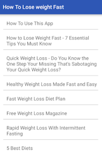 How To Lose Weight Fast - náhled