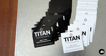 Photo: Advertising Stickers for Titan Fire Solutions