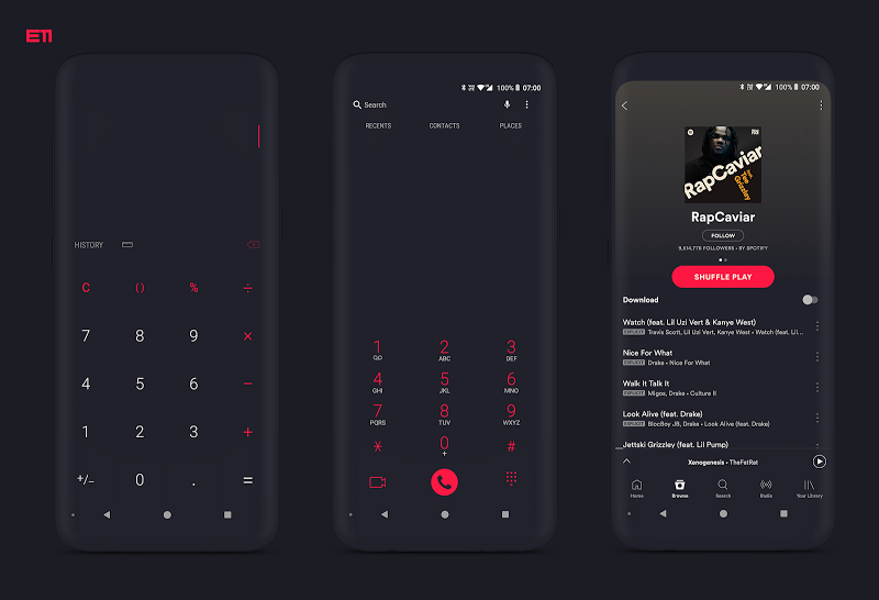 PitchBlack S╶ Samsung Substratum Theme Oreo/One Ui Screenshot 3