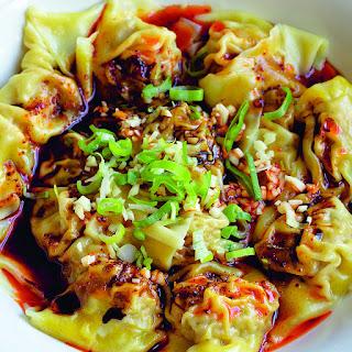 Sichuanese Wontons in Chilli Oil Sauce (_Hong You Chao Shou_) Recipe   Epicurious.Com Recipe