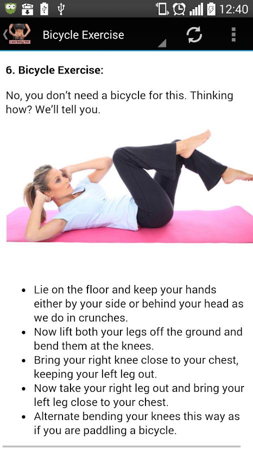Belly Fat Exercises Screenshot