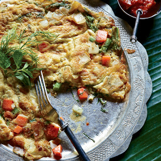 Lao Omelet with Dill, Scallion and Thai Chile Recipe