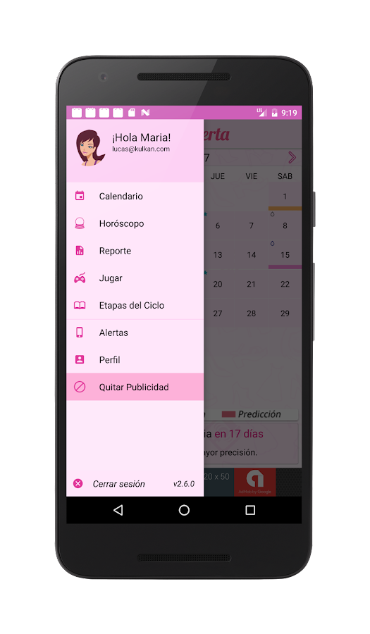 Calendario Menstrual- screenshot