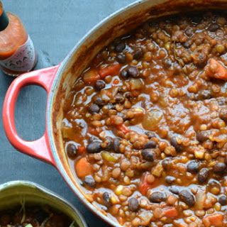 Black Bean and Lentil Chili