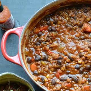 Black Bean and Lentil Chili.