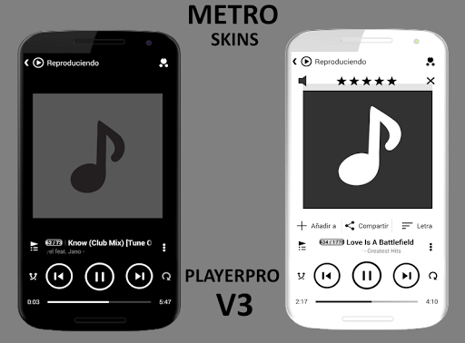 SKIN PLAYERPRO V3 METRO BLACK