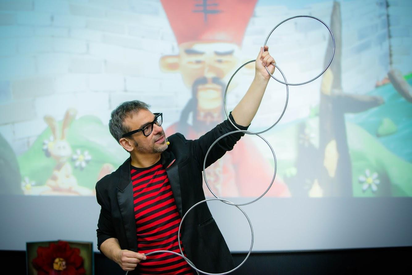juego aros chinos mago madrid con animaciones en 3D