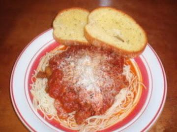 Thick And Spicy Spaghetti Sauce Recipe