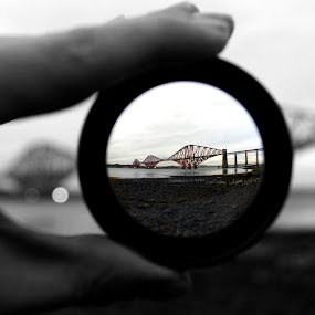 through the looking glass by Danny Charge - Travel Locations Railway ( water, creative, rail, scene, bridge )