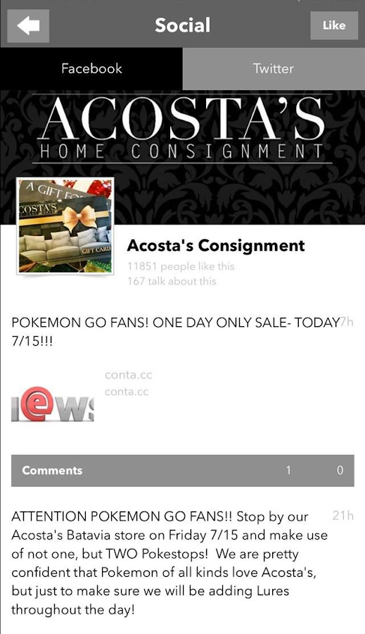 Acosta's Home Consignment- screenshot