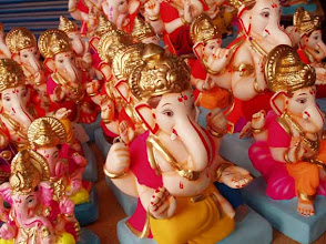 """Photo: Here, Ganesha is almost at your doorstep.. Tomorrow is the first day of Ganesha festival in India this year. Coincidentally, tomorrow is also considered as the auspicious day in Japan because two """"9"""" (nine) lap over (重陽 [ちょうよう] in Japanese), which is the biggest sunny number (reading """"yang"""" in Chinese) according to the Chinese theory of Yin-Yang. So, prepare for some extra bonanza brought by Ganapati Bappa! (References: http://en.wikipedia.org/wiki/Yin_and_yang and http://www.bukyu.com/seck/s9.html) 8th September updated (日本語はこちら★) - http://jp.asksiddhi.in/daily_detail.php?id=294"""