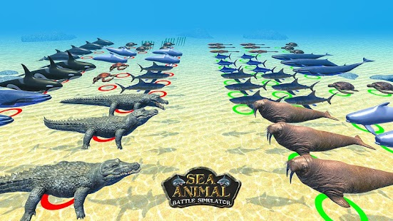 Sea Animal Kingdom Schlacht: War Simulator Screenshot