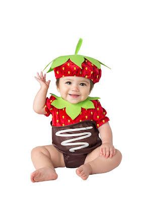 Bebisdräkt, jordgubbe