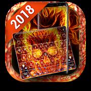 Free Fireskull Keyboard Theme 2018