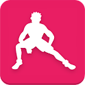 Stretching training icon