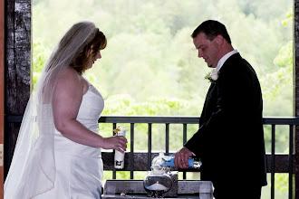 Photo: Sand Ceremony in progress - Tablerock Mountain Lodge - Photo courtesy David Bridgesbridgesphoto.com - http://WeddingWoman.net