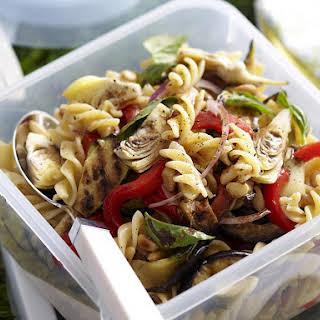 Mediterranean Vegetable and Fusilli Salad.