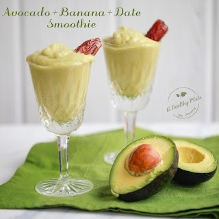 Avocado-Banana-Date Smoothie