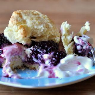 Blackberry Shortcakes with Yogurt Whipped Cream.