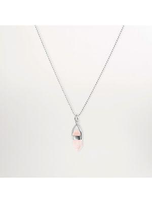 Cornelia Webb, rosenkvarts halsband i sterling silver