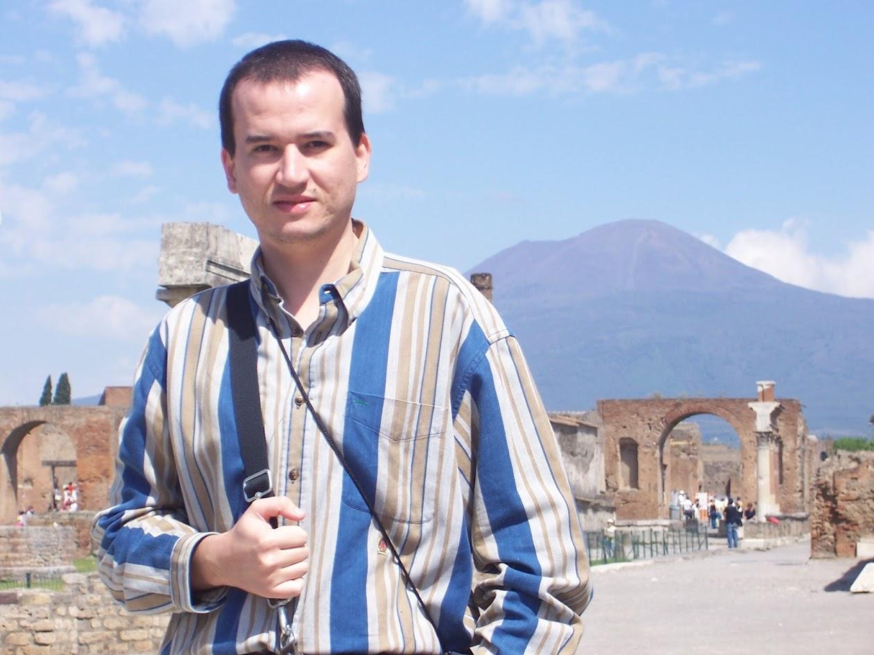 Pompéia, Itália - Vesúvio ao fundo