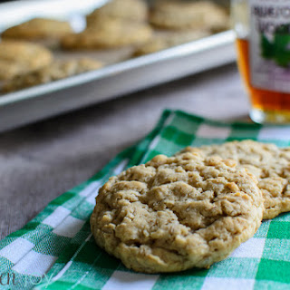Chewy Maple Brown Sugar Oatmeal Cookies