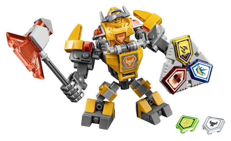 Contenido de Lego® 70365 AXL con Armadura de Combate