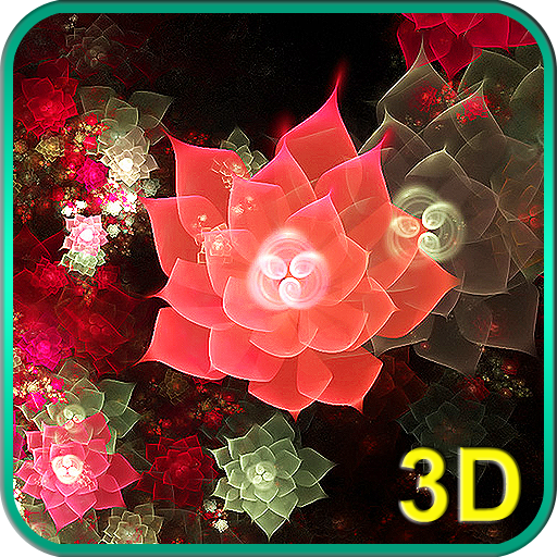 Abstract Flowers 3D Icon