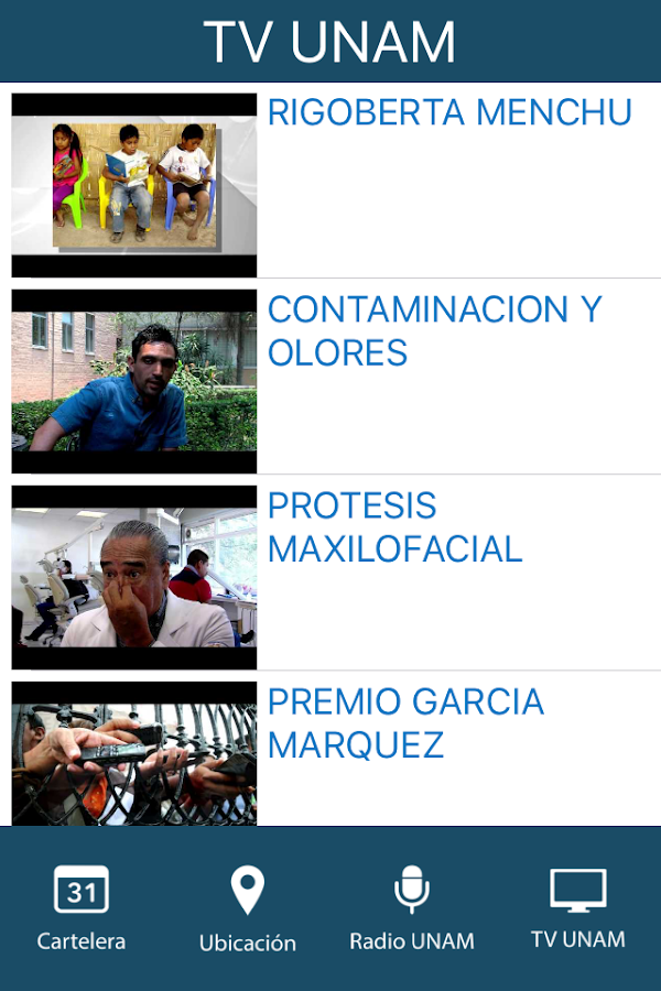Cultura UNAM- screenshot