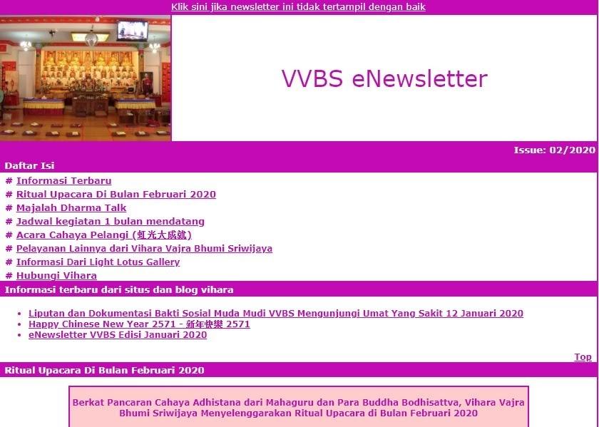 Newsletter Februari 2020